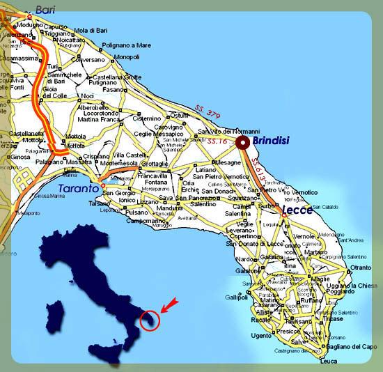 Cartina Puglia Immagini.Cartina Della Puglia